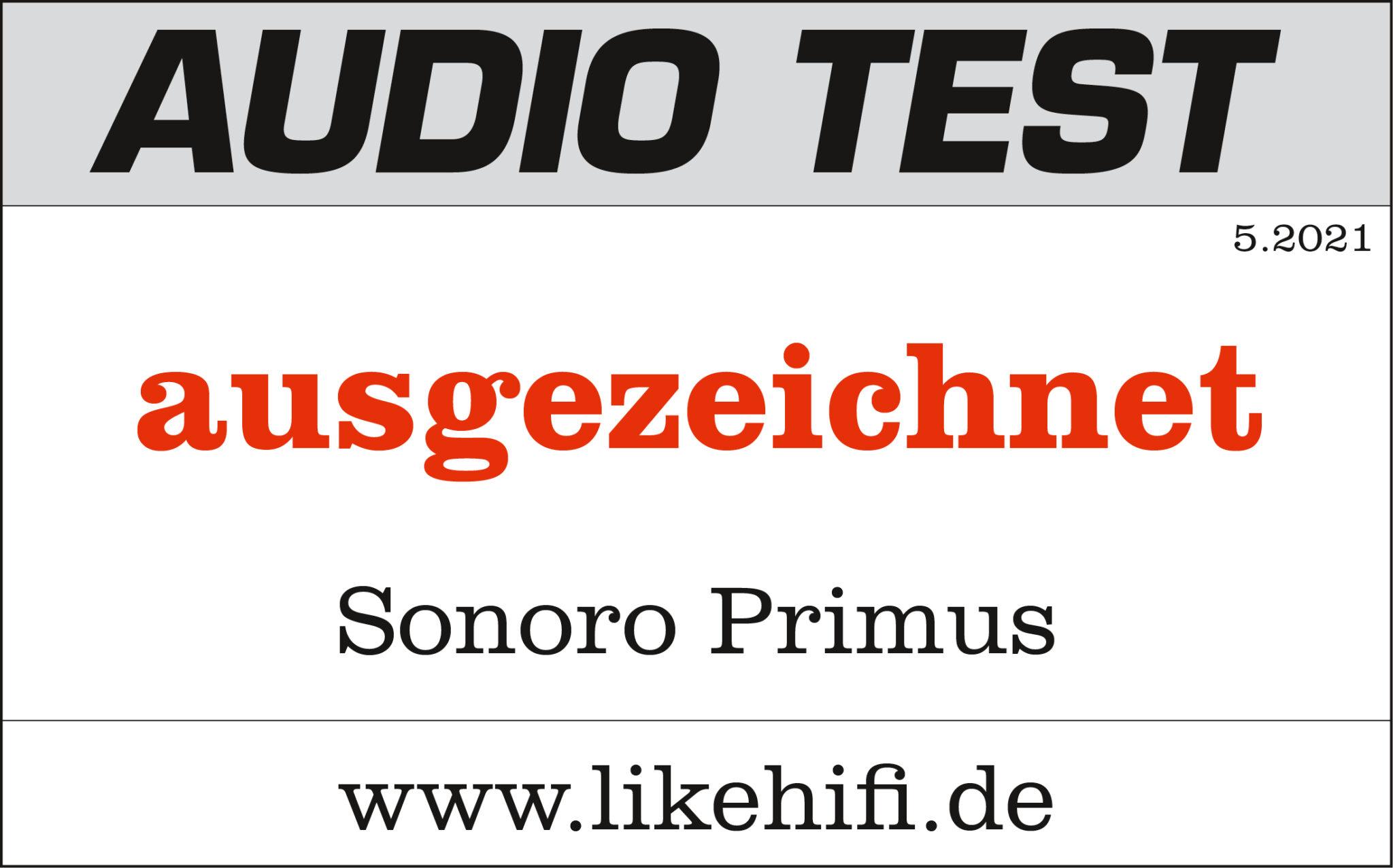 Awards von PRIMUS sonoro